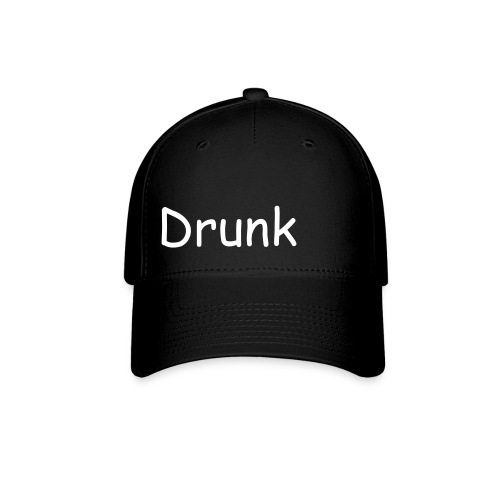 Black and White 'Drunk' fitted hat - Baseball Cap