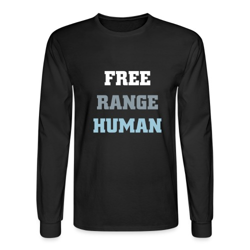 Free Range Human Mens Long Tee - Men's Long Sleeve T-Shirt