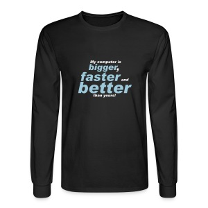 My Computer Is - Men's Long Sleeve T-Shirt