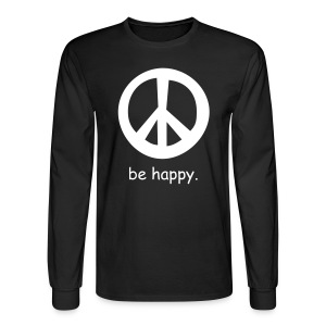 be happy(black) - Men's Long Sleeve T-Shirt