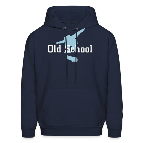 Text- Old School graphic-Skater - Men's Hoodie