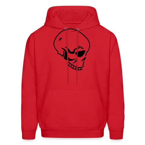 Skull (Hooded Sweater) Red Black - Men's Hoodie