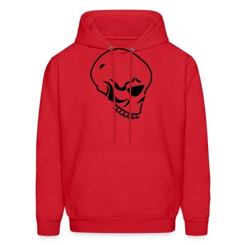 Skull (Hooded Sweater) Red Black - Men's Hoodie