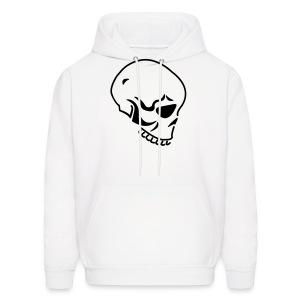 Skull (Hooded Sweater) White Black - Men's Hoodie