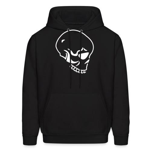 Skull Custom Text (Hooded Sweater) Black White - Men's Hoodie