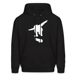 Skateboarding (Hodded Sweatshirt) Black White - Men's Hoodie