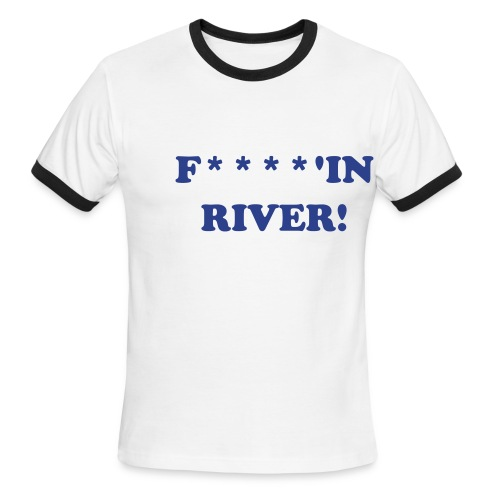 RIVER CARD POKER TEE SHIRT - Men's Ringer T-Shirt