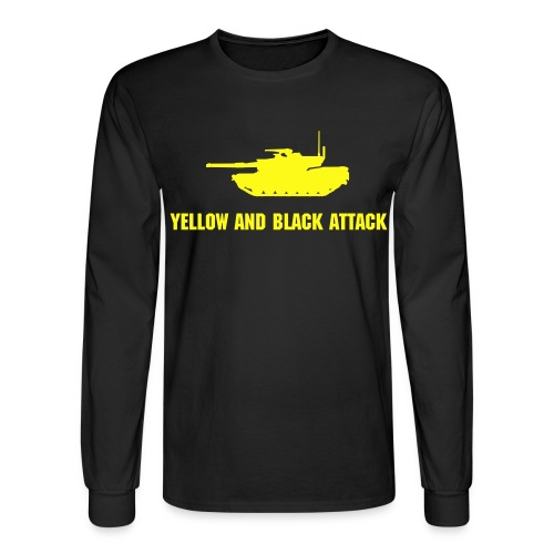 Yellow and Black Attack - Men's Long Sleeve T-Shirt
