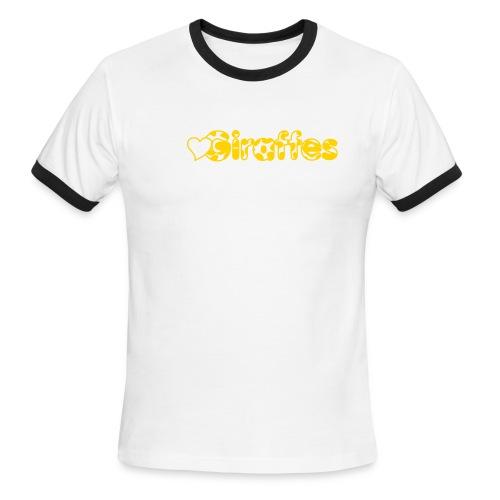 Heart Giraffes Ringer T - Men's Ringer T-Shirt