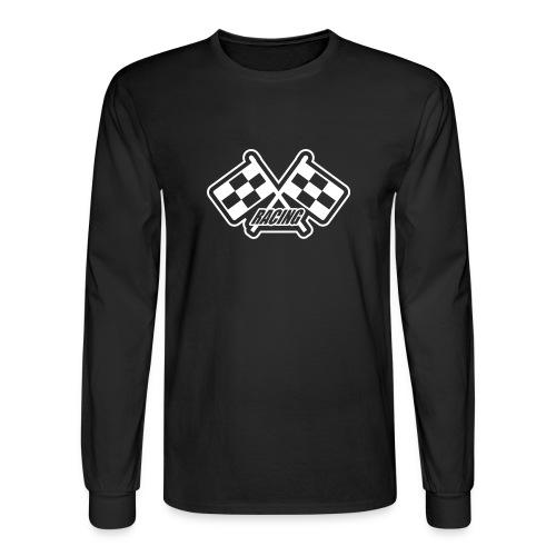 Black racing long sleve shirt - Men's Long Sleeve T-Shirt