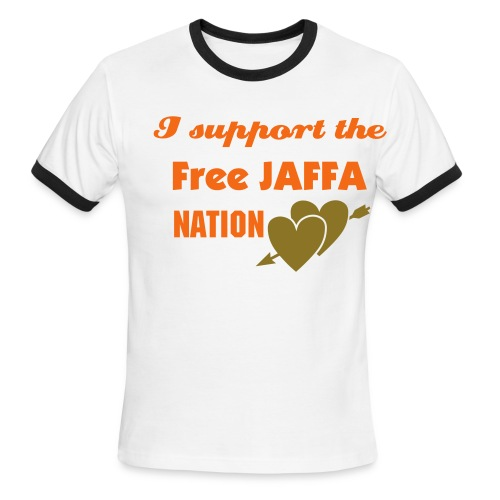 Men's Ringer T-Shirt - I support the free Jaffa Nation