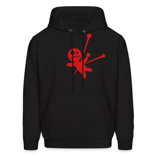 Unisex Voodoo Hoodie-blck/red - Men's Hoodie