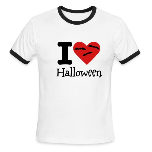 I Heart Halloween - Men's Ringer T-Shirt