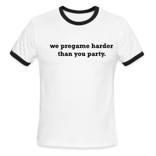 Pregame Party Red Tee - Men's Ringer T-Shirt