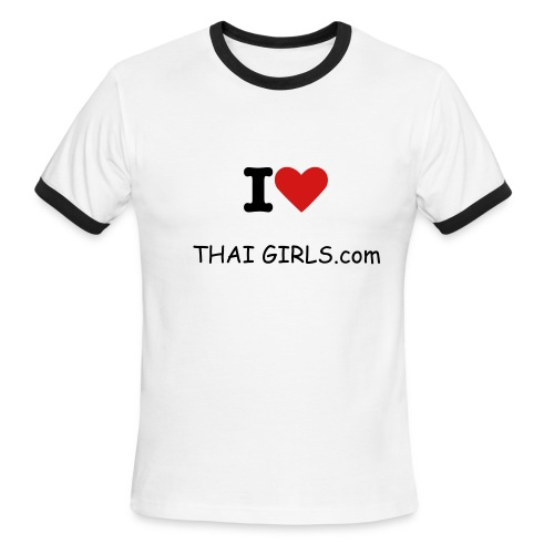 I love thai girls (nothing on back) - Men's Ringer T-Shirt