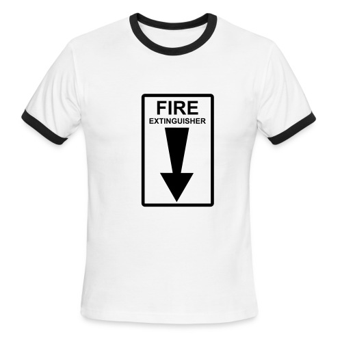 Fire Extinguisher - Men's Ringer T-Shirt