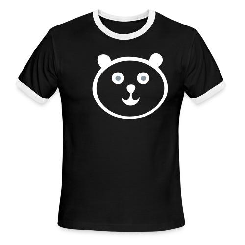 Black and Wite Panda Tee - Men's Ringer T-Shirt