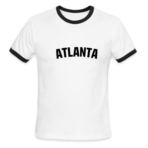 Red and white Atlanta - Men's Ringer T-Shirt