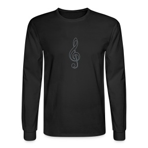 Silver Treble Clef - Men's Long Sleeve T-Shirt