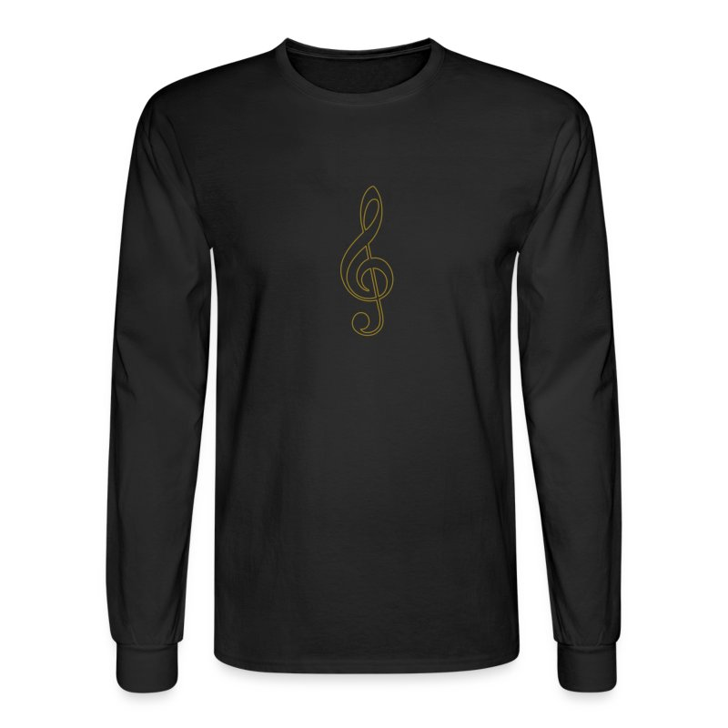 Gold Treble Clef - Men's Long Sleeve T-Shirt