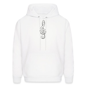 Black Treble Clef - Men's Hoodie