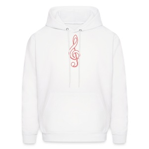 Red Treble Clef - Men's Hoodie