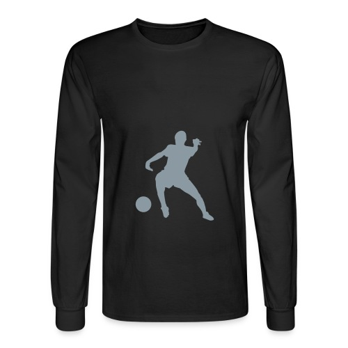 Black Longsleeve Soccer T-Shirt - Men's Long Sleeve T-Shirt