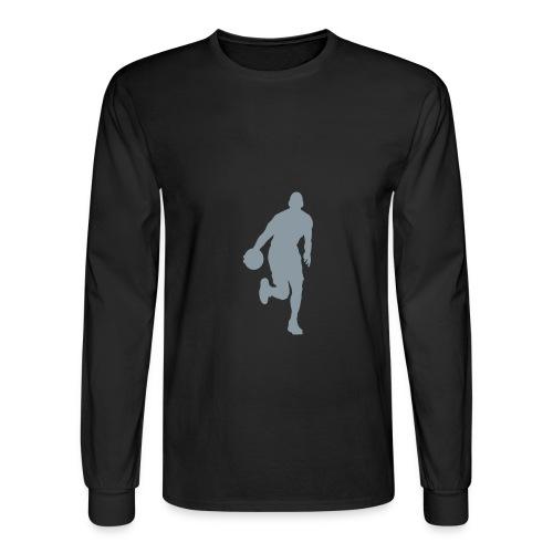 Black Longsleeve Basketball T-Shirt - Men's Long Sleeve T-Shirt