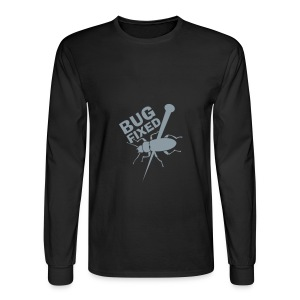 Black Longsleeve Bug Fixed T-Shirt - Men's Long Sleeve T-Shirt