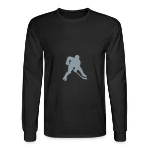 Black Longsleeve Hockey T-shirt - Men's Long Sleeve T-Shirt