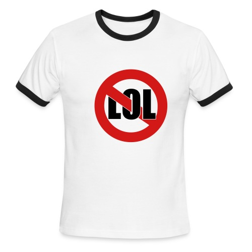 No LOL - Men's Ringer Tee - Men's Ringer T-Shirt