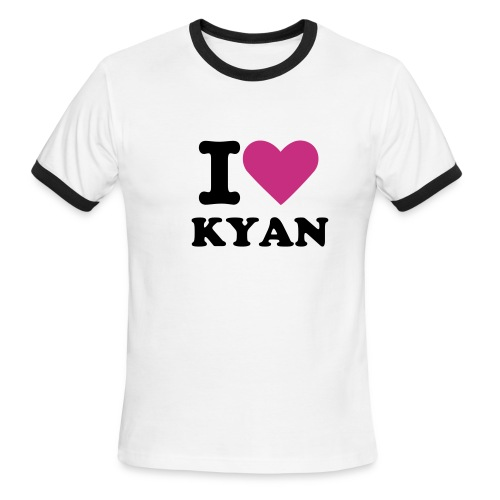 I Love Kyan - Men's Ringer T-Shirt