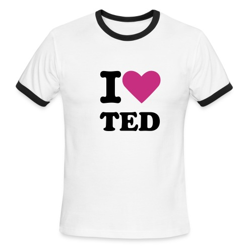 I Love Ted - Men's Ringer T-Shirt
