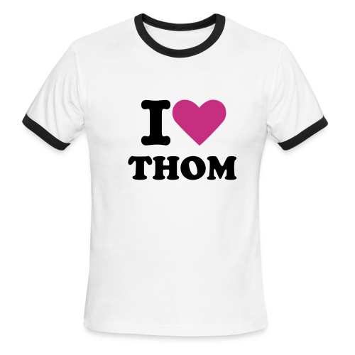 I Love Thom - Men's Ringer T-Shirt