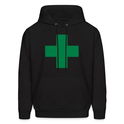 green cross hoodie - Men's Hoodie