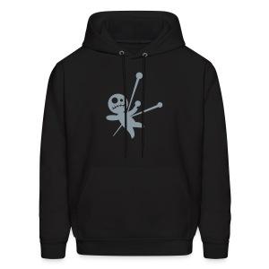 men's hoodie with metallic silver voodoo doll - Men's Hoodie