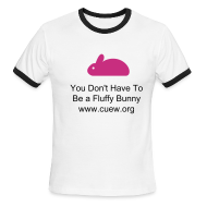 T-Shirts ~ Men's Ringer T-Shirt ~ White Bunny Shirt