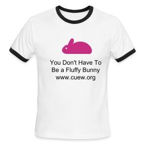 White Bunny Shirt - Men's Ringer T-Shirt