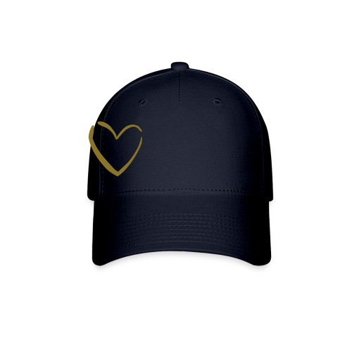 Navy/Gold Heart Hat - Baseball Cap