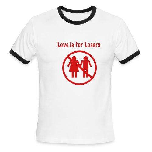 t-shirt macho love for looser - T-shirt à bords contrastants pour hommes American Apparel