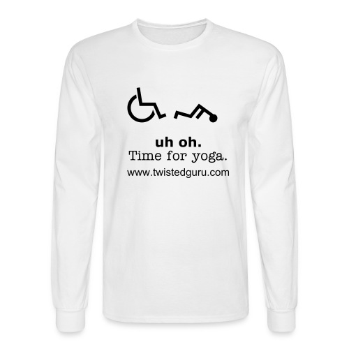 Uh Oh, Time for Yoga Long T - Men's Long Sleeve T-Shirt