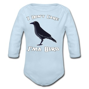 I Don't Care  M T-shirt - Long Sleeve Baby Bodysuit