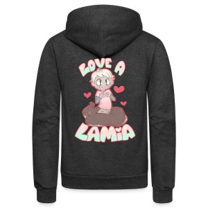 Love a Lamia Girl's Tee - Unisex Fleece Zip Hoodie by American Apparel