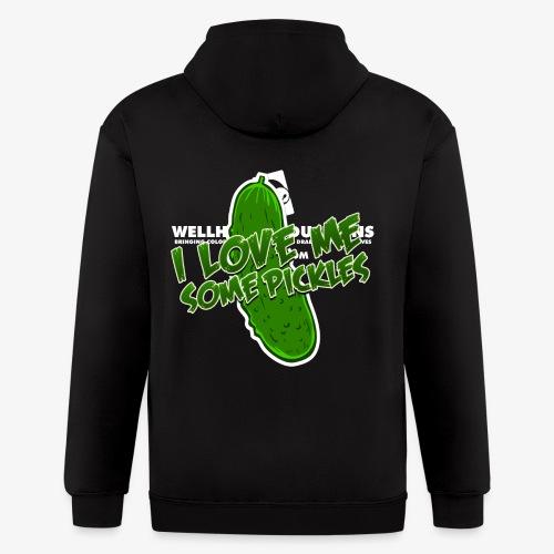 I Love Me Some Pickles Men's T-Shirt - Men's Zip Hoodie