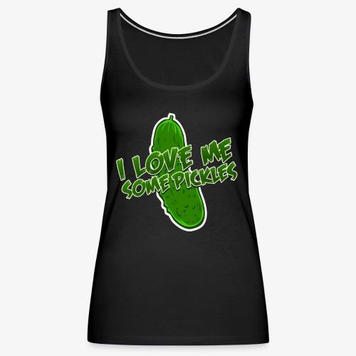 I Love Me Some Pickles Men's T-Shirt - Women's Premium Tank Top