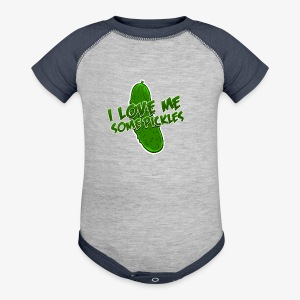 I Love Me Some Pickles Kid's T-Shirt - Baby Contrast One Piece
