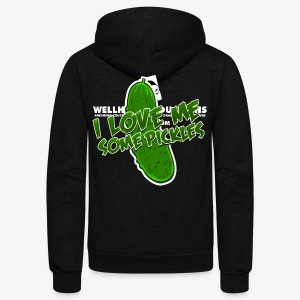 I Love Me Some Pickles Women's T-Shirt - Unisex Fleece Zip Hoodie by American Apparel