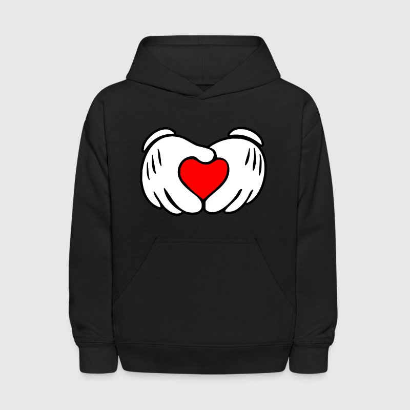 Mickey hands in heart shape - Kids' Hoodie