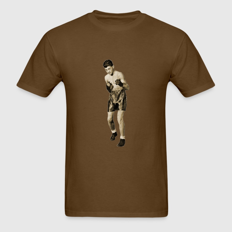Vintage Boxer in Boxing Pose - Men's T-Shirt