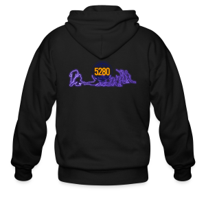 Safe or Out - Purple - Mens T-shirt - Men's Zip Hoodie